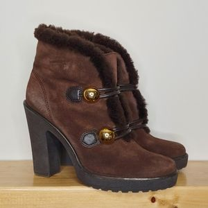 Coach Lenora Shearling Lined Boots